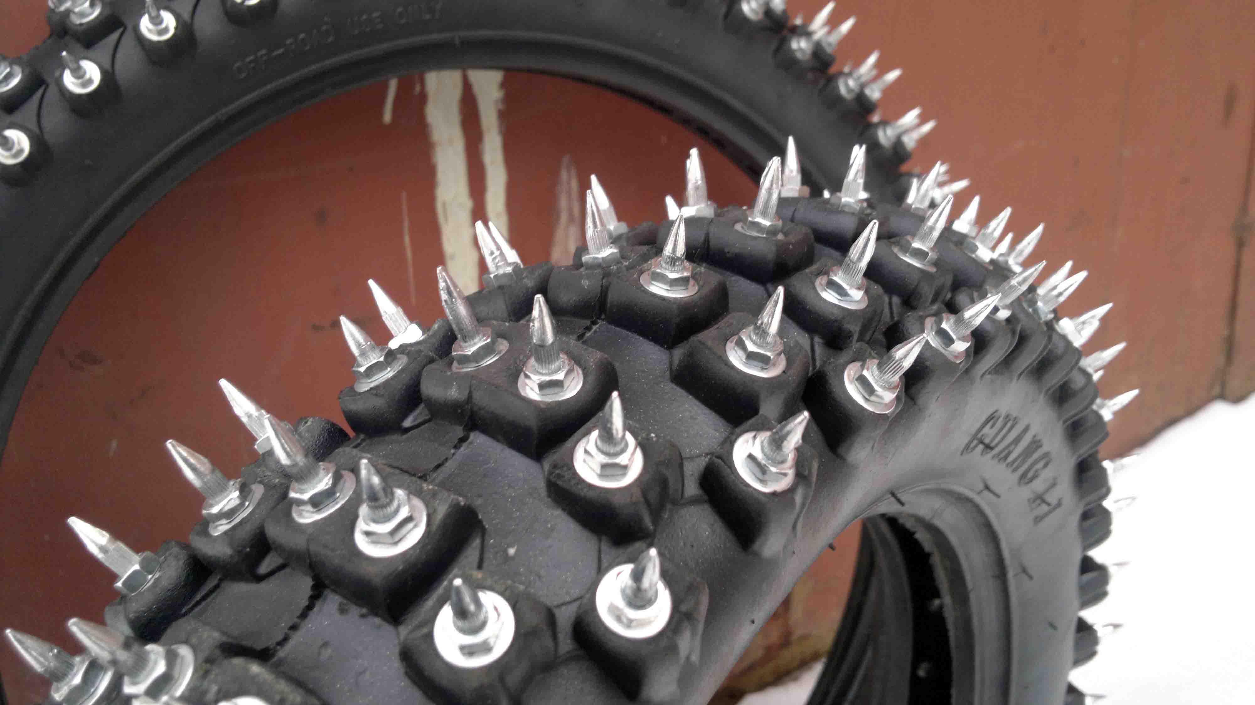 Уаз хантер самодельные шипы для мотоцикла того, чтобы